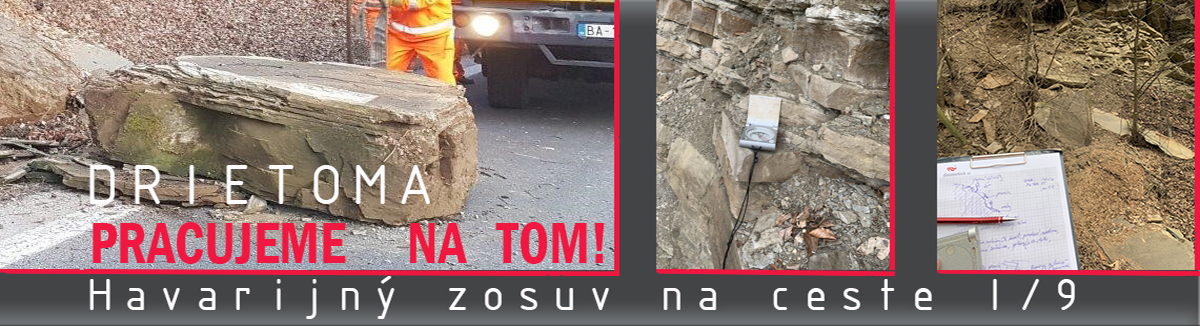 DRIETOMA Havarijný zosuv na ceste I/9, Inžinierskogeologický prieskum a sanácia